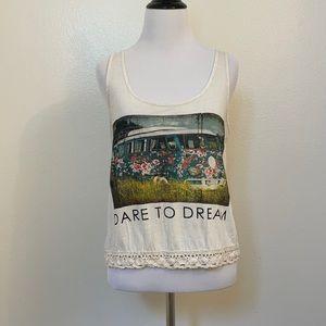 🎉5/$25 Dare to Dream Van Print Tank